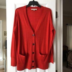 Ann Taylor LOFT Size XL Rust Orange Cardigan